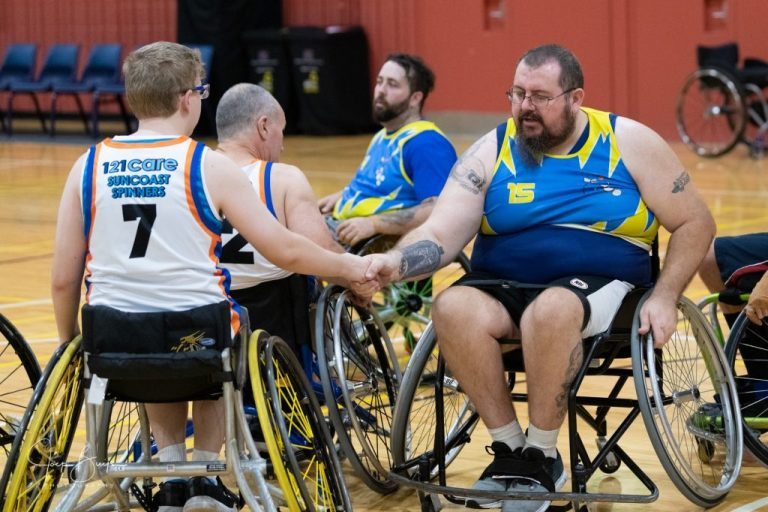 players shaking hands at the end of a competition game